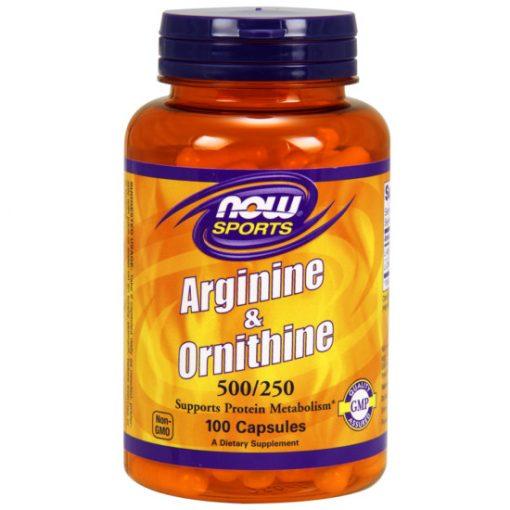 NOW Sports Arginine & Ornithine 100caps